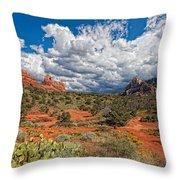Az-sedona-schnebly Hill Rd-huckaby Trail Throw Pillow