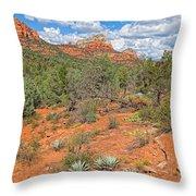 Az-sedona-soldier Pass Trail. Throw Pillow