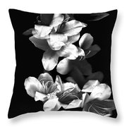 Azaela Blossom In Black And White Throw Pillow
