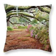 Azalea Alley Throw Pillow