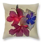 Azalea Bouquet Majic Throw Pillow