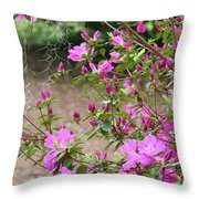 Azalea Branches And Spanish Moss Throw Pillow