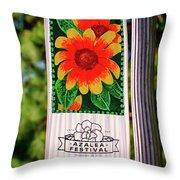 Azalea Festival Throw Pillow