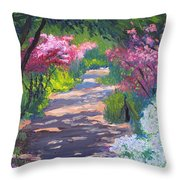 Azalea Path - Sayen Gardens Throw Pillow