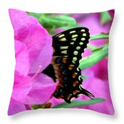 Azalea With Butterfly Throw Pillow