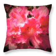 Azaleas 10 Throw Pillow