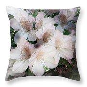 Azaleas Throw Pillow