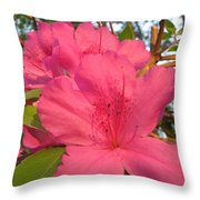 Azaleas Throw Pillow
