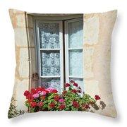 Azay Le Rideau Bridge, Window, Lace Throw Pillow