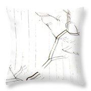 Azelea On White Throw Pillow