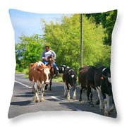 Azorean Farmer Throw Pillow