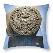 Aztec Calendar Stone Throw Pillow