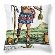Aztec: Chocolate, 1685 Throw Pillow