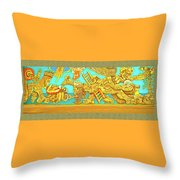 Aztec Fantasy Throw Pillow