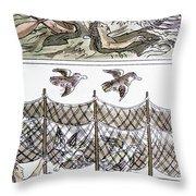 Aztec Fishermen Throw Pillow