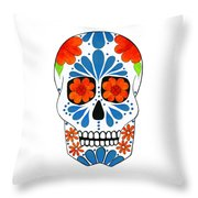Aztec Inspired Sugarskull Throw Pillow