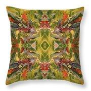 Aztec Kaleidoscope - Pattern 001 - Desert Throw Pillow