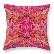 Aztec Kaleidoscope - Pattern 009 - Crimson Throw Pillow