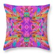 Aztec Kaleidoscope - Pattern 009 Throw Pillow