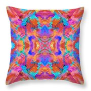 Aztec Kaleidoscope - Pattern 015 Throw Pillow