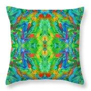Aztec Kaleidoscope - Pattern 025 Throw Pillow