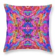 Aztec Kaleidoscope - Pattern 032 Throw Pillow