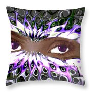 Aztec Mask Throw Pillow