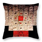 Aztec Nuclear Furnace Throw Pillow by Eikoni Images