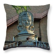 Aztec On The River Throw Pillow