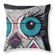 Aztec Owly Throw Pillow