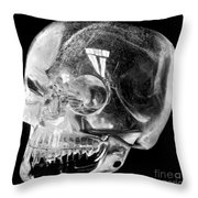Aztec Rock Crystal Skull Throw Pillow