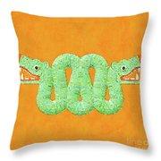 Aztec Serpent Throw Pillow