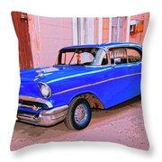 Azul Cobalto Throw Pillow