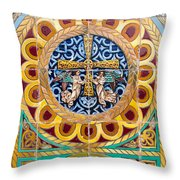 Azulejo - Colorful Details Throw Pillow