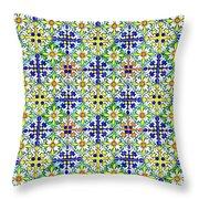 Azulejos Magic Pattern - 11 Throw Pillow
