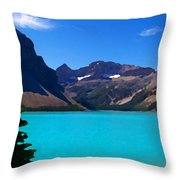 Azure Blue Mountain Lake Throw Pillow