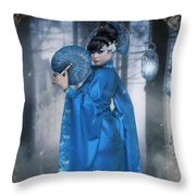 Azure Empress Throw Pillow