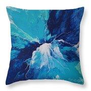 Azure Impulse  Throw Pillow