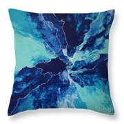 Azure Impulse II Throw Pillow