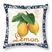 Azure Lemon 1 Throw Pillow by Debbie DeWitt