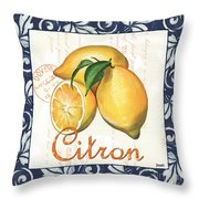 Azure Lemon 2 Throw Pillow
