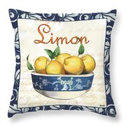 Azure Lemon 3 Throw Pillow