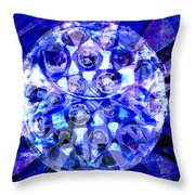 Azure Orb Of Midas Throw Pillow