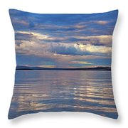 Azure, Pink And Reflections 2 Throw Pillow