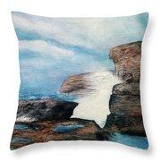 Azure Window - After Throw Pillow