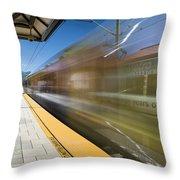 Azusa Downtown Metro Station Throw Pillow