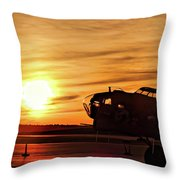 B 17 At Sunset Throw Pillow