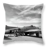 B-17  Black  Throw Pillow