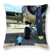 B-17 Engine Aircraft Wwii Throw Pillow