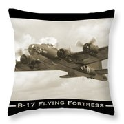 B-17 Flying Fortress Show Print Throw Pillow